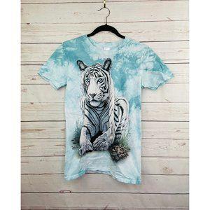 The Mountain Tie Dye Tiger Shirt Small